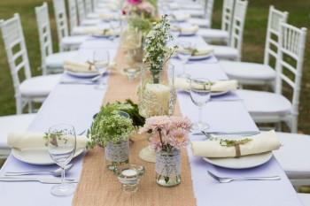 שולחן ערוך לקראת חתונה בגן אירועים